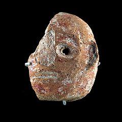 Vase ? en forme de tête humaine