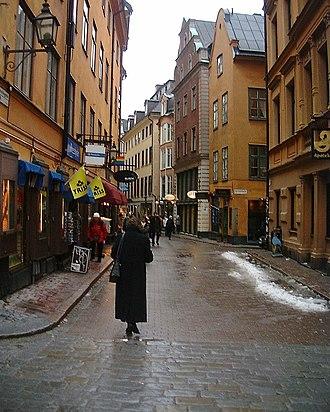 Västerlånggatan - Västerlånggatan from Storkyrkobrinken.