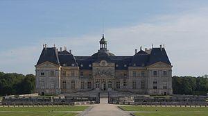 Château de Vaux le Vicomte, France. Main entrance
