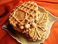 Vegan Chocolate Peanut Butter Soy Kreme Pizzelle (3946886994).jpg