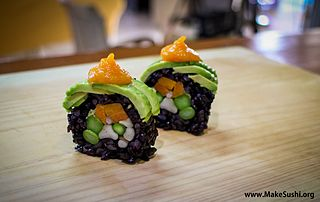 Vegan sushi roll picture