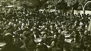 Vennelystparken - Vennelystparken c. 1900, patrons at an unknown performance at Vennelystparken