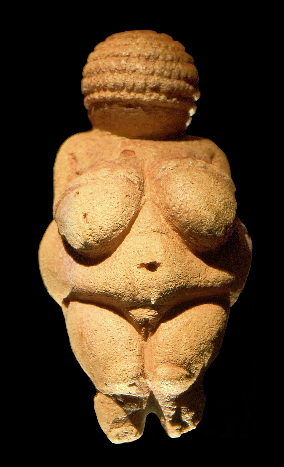 Venus of Willendorf frontview retouched 2