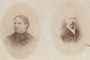 Pedro Nolasco Vergara Albano - Her son in law, Vicente Correa Albano and daughter Agustina Vergara Lois