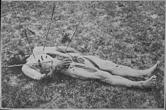 7th Cavalry Regiment - The mutilated corpse of a U.S. soldier, 7th Cavalry, 1867