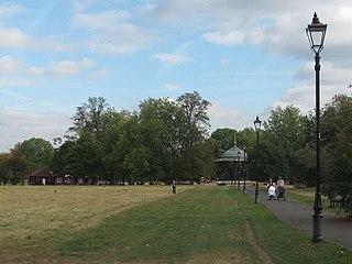 Clapham Common urban park in Clapham, south London