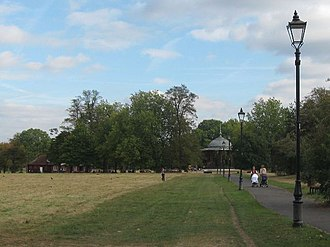 Clapham Common - Image: Victorian style lamp posts on the way to Clapham Common Bandstand geograph.org.uk 1514161