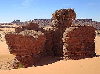 Ennedi-Ouest Region - Sandstone pillars in the Ennedi Plateau near Fada