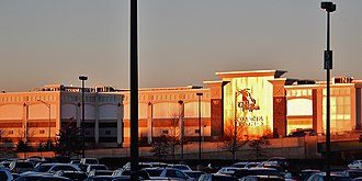 Big-box store - A big-box shopping center in Paramus, New Jersey, that includes an IKEA (not pictured), a Christmas Tree Shops store, and a Bed Bath & Beyond store. It is located across from Westfield Garden State Plaza shopping mall.