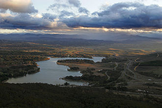 Lake Burley Griffin - Lake Burley Griffin, viewed from the Telstra Tower
