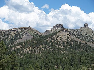 Chimney Rock National Monument - Image: View of Chimney Rock Colorado