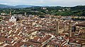 View of Piazza della Signoria and Basilica of Santa Croce from Giotto's Bell Tower. Florence, Italy.jpg