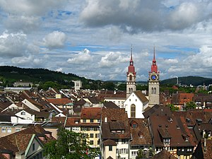 Winterthur - June 2009 view of the old town