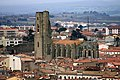 View of the church of St. Vincent from the fortified city - Carcassonne 2014.JPG