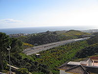 View of the new highway in Calahonda, Spain 2005.jpg