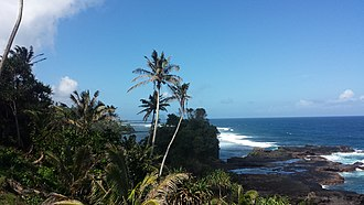Upolu - Image: View of the south eastern coast of Upolu, Samoa August 2016