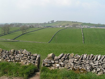 Typical White Peak plateau landscape, near Litton View towards Litton - geograph.org.uk - 45154.jpg