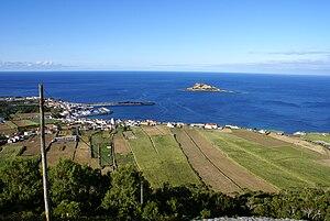 Santa Cruz da Graciosa - A partial glimpse of the civil parish of Praia on the southern coast of Graciosa