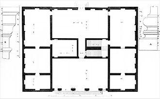 Villa Trissino (Cricoli) - Floor plan and details (Ottavio Bertotti Scamozzi, 1778)
