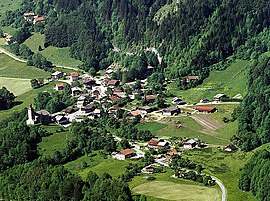 An aerial view of La Baume