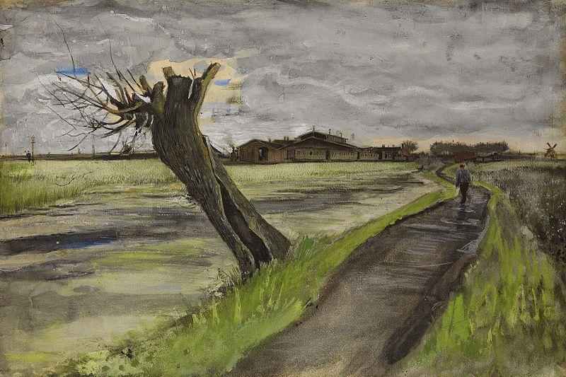 Vicent van Gogh: Sauce podado (1882).