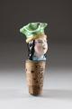 Vinkork i form av ett kvinnohuvud från 1800-talets slut - Hallwylska museet - 93835.tif