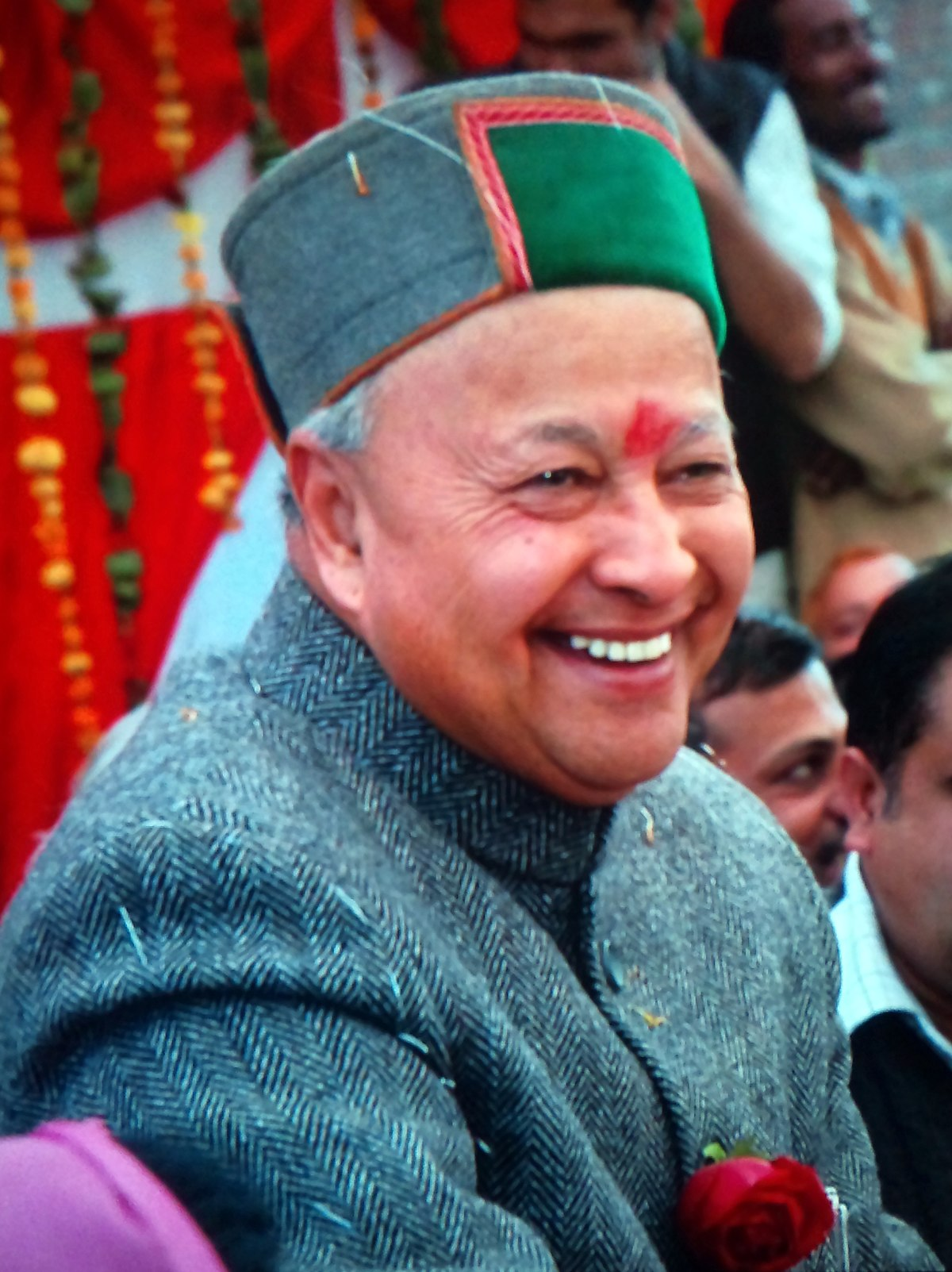 Image result for veer bhadra singh  with grand son of late yashwant singh parmar
