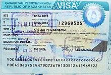 Visa Policy Of Kazakhstan Wikipedia