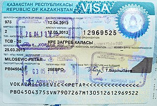 Policy on permits required to enter Kazakhstan