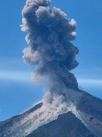 Ring of Fire - Santiaguito Volcano, 2003 eruption in Guatemala
