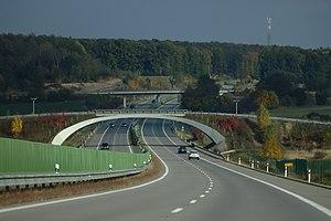D11 motorway (Czech Republic) - Image: Voleč, dálnice D11