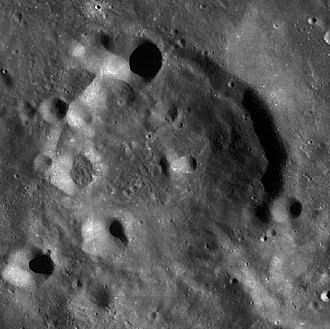 Von der Pahlen (crater) - LRO WAC image