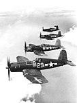 Vought F4U-1A Corsairs of VF-17 in flight, circa in March 1944 (80-G-217817).jpg