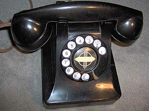 Model 302 telephone - Image: WE302dialphone
