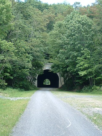 Allegheny Highlands Trail of Maryland - The Bordon Tunnel on the AHTM