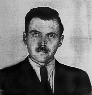 Josef Mengele - Photo from Mengele's Argentine identification document (1956)