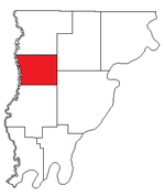 Location of Lick Prairie Precinct in Wabash County