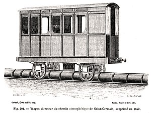 Atmospheric railway - Saint Germain piston carriage