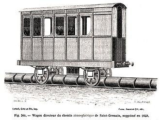 Atmospheric railway - Saint Germain piston carriage
