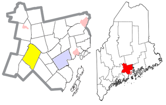 Montville, Maine - Image: Waldo County Maine Incorporated Areas Montville Highlighted