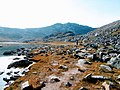 Walking along water Lille Malene hike near Nuuk Greenland.jpg