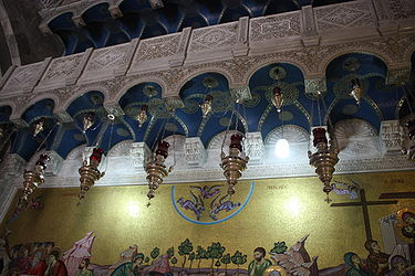 Wall near Stone of Anointing, Holy Sepulchre.jpg