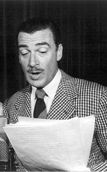 Walter Pidgeon al programa radiofònic Three thirds of the Nation (1942)