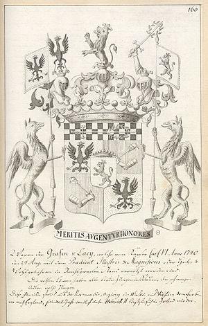 Franz Moritz von Lacy - Crest of Franz Moritz von Lacy