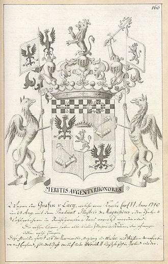 Franz Moritz von Lacy - Armorial of Franz Moritz von Lacy