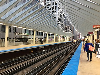 Washington/Wabash station - Image: Washington Wabash 04
