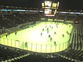 Watching the pre-game skate before the game. (3270868620).jpg