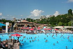 Water World entertainment park in Yerevan.