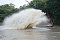 Water Splash During Dredging - Kings Lake Dredging - Banyan Avenue - Indian Botanic Garden - Howrah 2013-10-27 3832.JPG