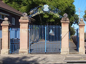 Waverley College - Waverley College gates, Carrington Road